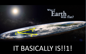 earth basically flat