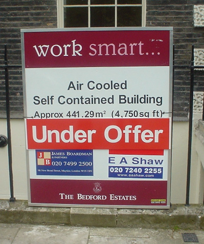 Air cooled, Self contained offices