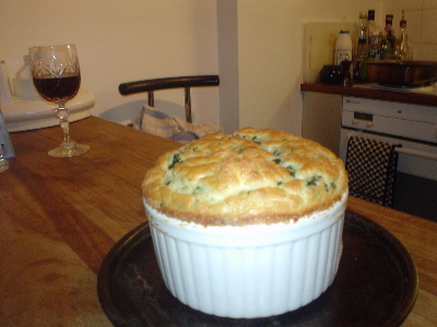 spinach and mushroom souffle