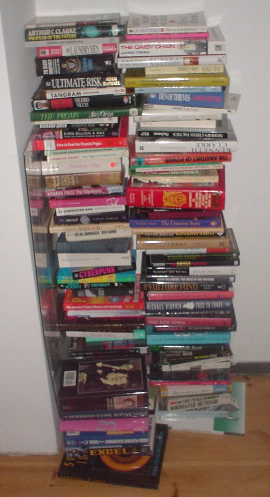 piles of unwanted books [sniff]